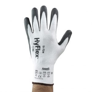 Ansell HyFlex 11-724 Intercept Palm Dipped 13 Gauge Cut Resistant Gloves