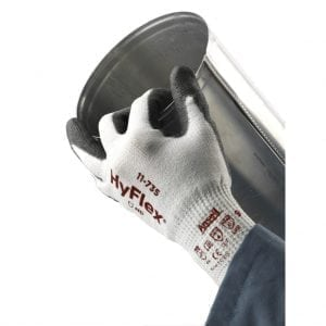 Ansell HyFlex 11-735 Intercept Palm Dipped 10 Gauge Cut Resistant Gloves