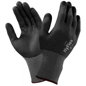 Ansell HyFlex® 11-840 Fortix Palm-side Coated Black/Grey Gloves