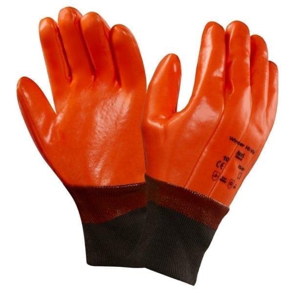 Ansell 23-491 Winter Hi-Viz Orange Cold Resistant Gloves