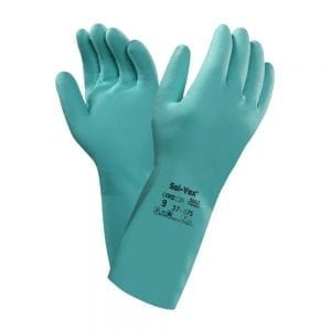 Ansell 37-675 Solvex® Classic Flocked Chemical Nitrile Gloves (330mm length)