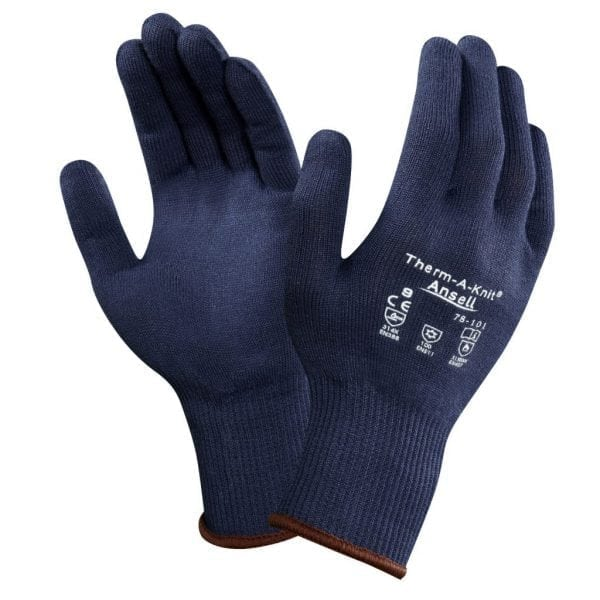 Ansell 78-101 Therm-A-Knit® Blue Thermal Gloves