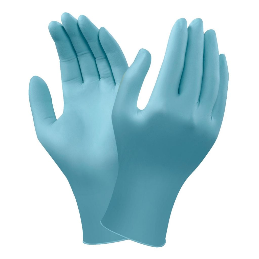 Ansell TouchNTuff® 92-670 Powder Free Blue Disposable Nitrile Gloves