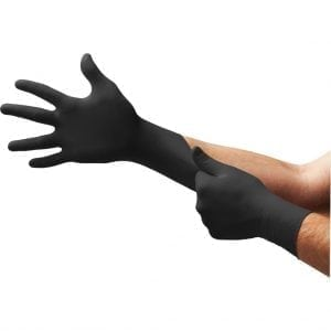 Ansell Microflex® 93-852 Black Disposable Nitrile Gloves