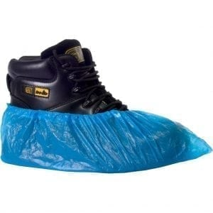 Blue Vinyl Disposable Protective Overshoe