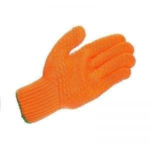 GC123 - Mens Yellow Latex Criss Cross Glove