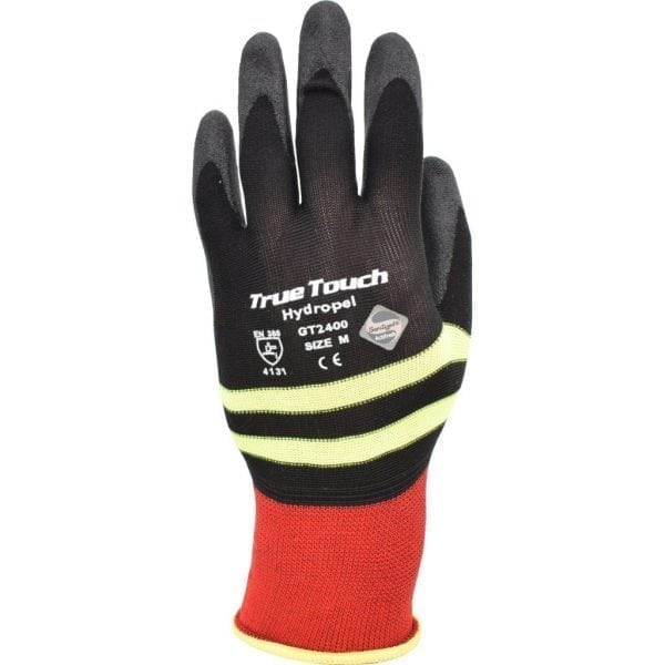 TrueTouch GT2400 Hydropel™ Black / Hi Vis Gloves