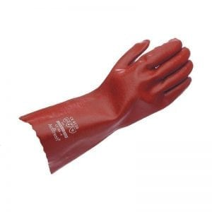 GT303 - Hurricane Red Lightweight 35cm PVC Gauntlet