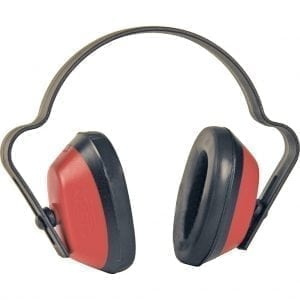 HP909 - Red / Black Economuff Ear Defenders