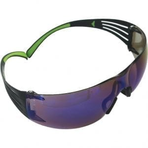 3M™ SF408 SecureFit™ Blue Mirror Lens Safety Glasses