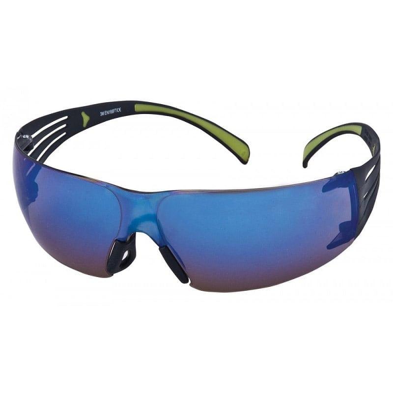 3M™ SF408 SecureFit™ Blue Mirror Lens Safety Glasses