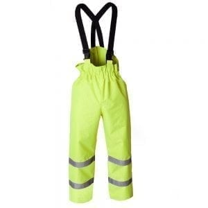 ETF1902 - Eagle FR Hi Vis Yellow Waterproof Overtrousers with Braces