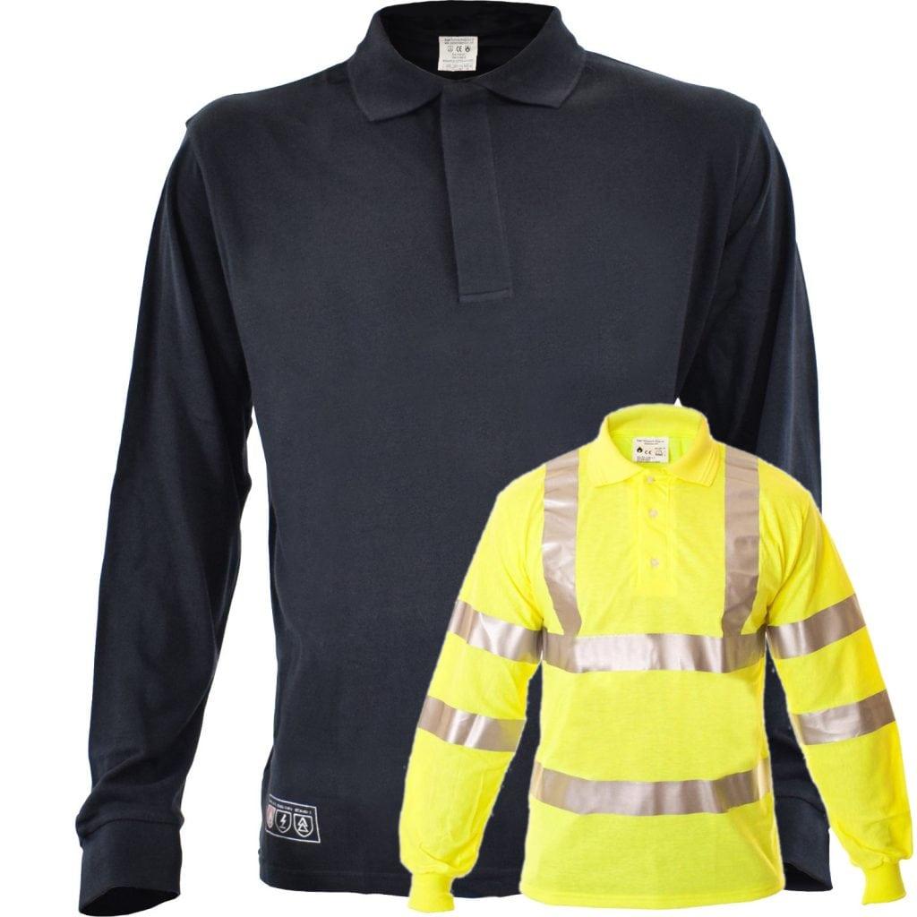 ded7f6028ea1 Buy Eagle FR Flame Retardant Anti-Static ARC Polo Shirt (Navy or Hi ...