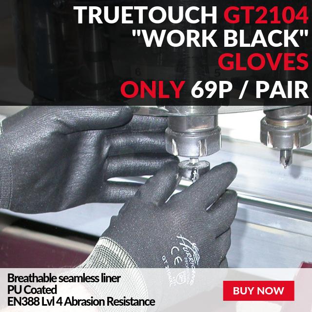 Truetouch GT2104 Work Black Gloves