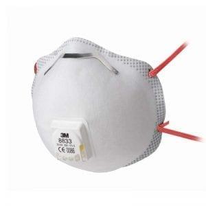 3M Aura 8833 FFP3 Valved Dust / Mist Respirator