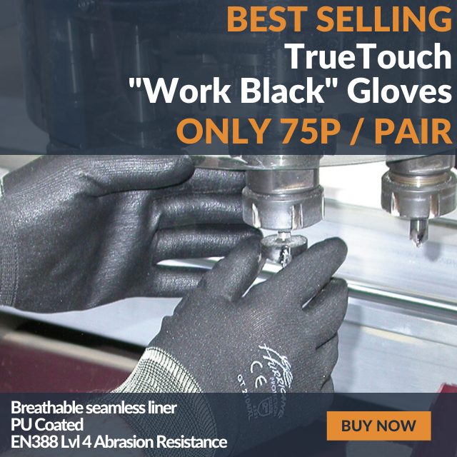 TrueTouch Work Black Work Gloves